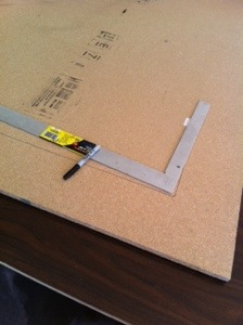 Measure and trace the guide for cutting