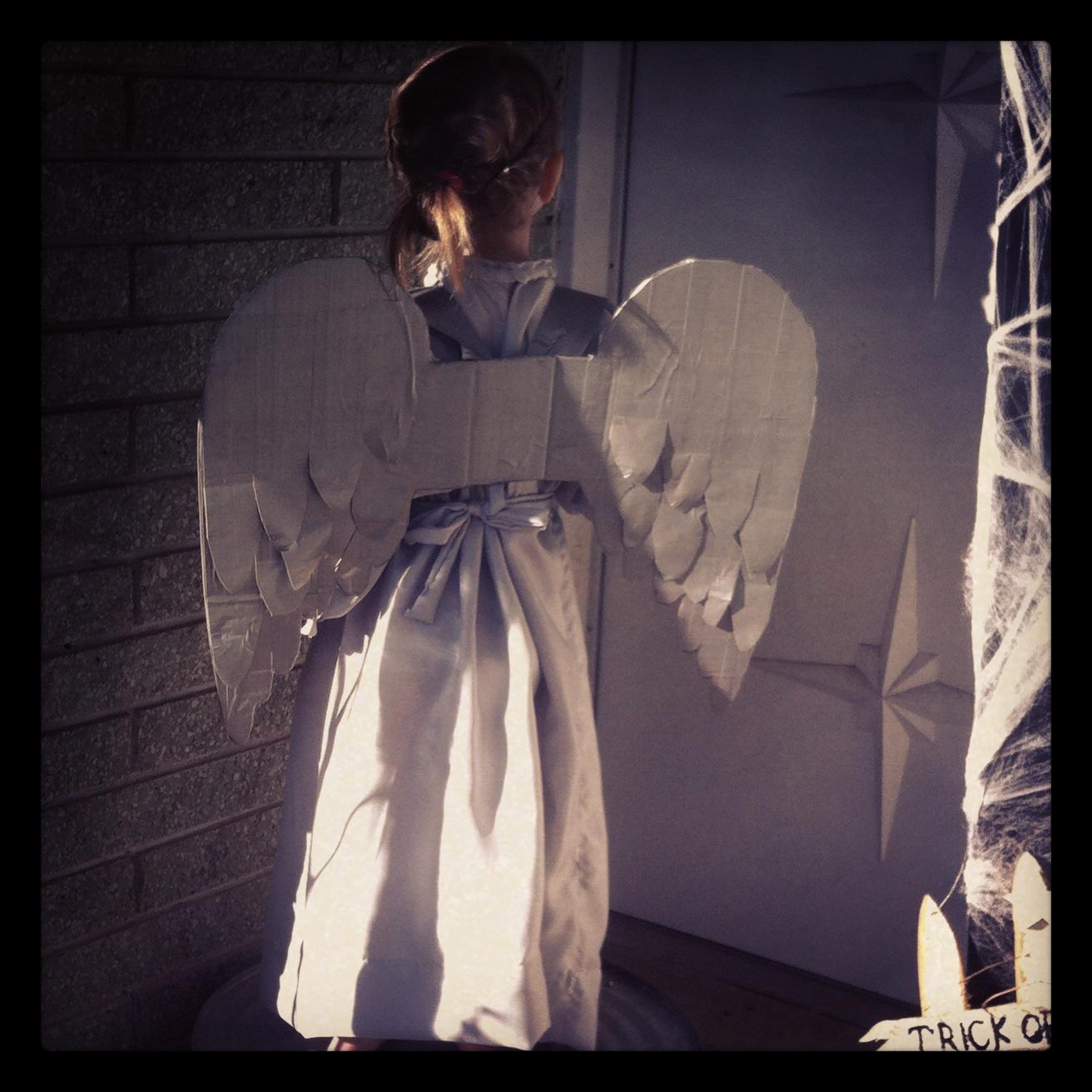 diy weeping angel wings